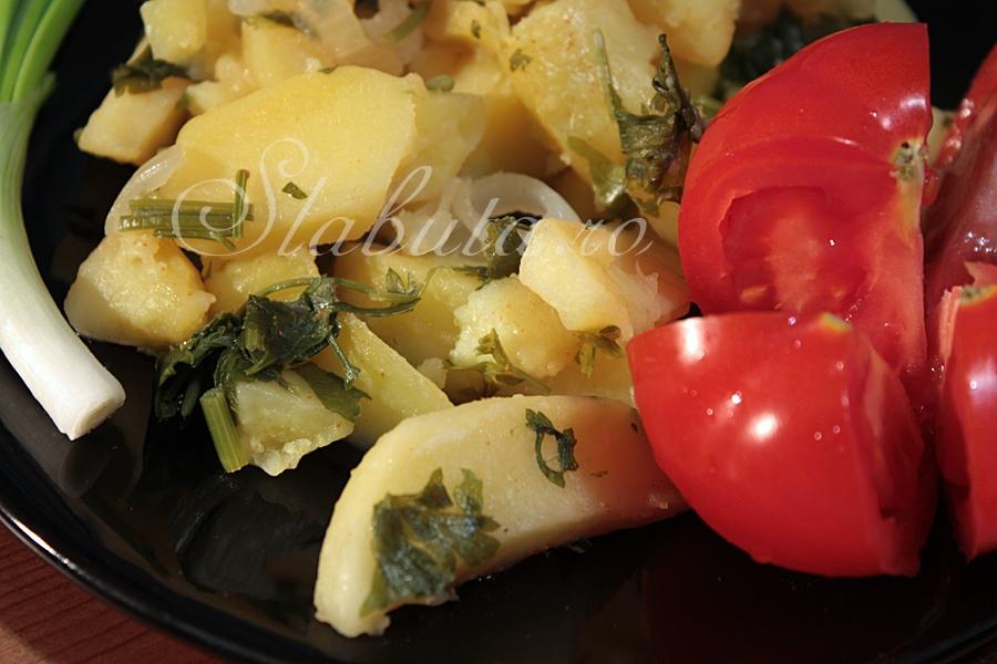 cartofi scazuti cuptor Cartofi scazuti, la cuptor