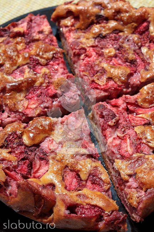 tarta capsuni Prajitura dietetica cu capsuni Slabuta