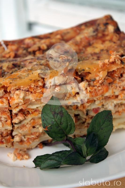lasagne pui Lasagne dietetica cu pui Slabuta