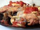 pulpe marinate ciuperci 01 130x98 Pulpe de curcan marinate, la cuptor