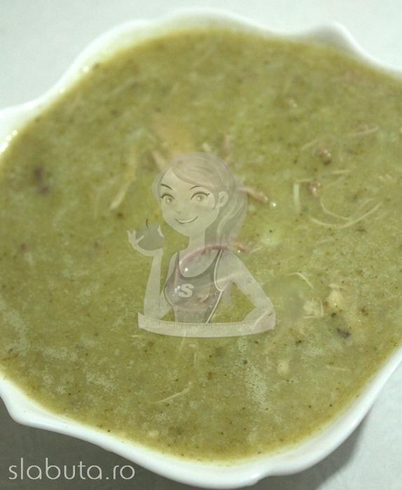 supa crema broccoli conopida pui Supa crema de broccoli, conopida si pui Slabuta