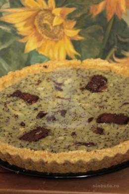 tarta kiwi fara zahar 260x391 Tarta, fara zahar, (din aluat macerat 24 ore) cu piure de kiwi si glazura de ciocolata amara Slabuta
