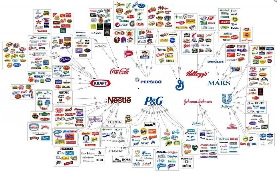 corporatiile care controleaza totul 10 corporatii...